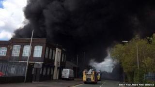 Oldbury factory fire