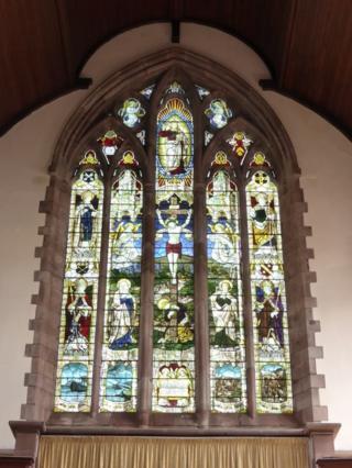 WW1 memorial window at St Paul's Church in Grangetown