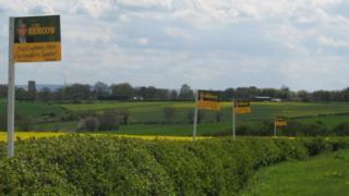 John Bercow campaign sign in Buckingham