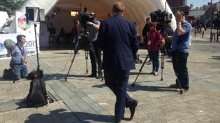 The BBC Wales General Election 2015 tour in Barry