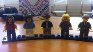 The Oxford West and Abingdon candidates in Lego