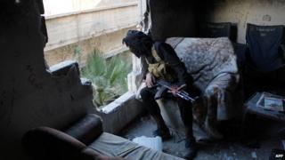 Rebel fighter in Deir al-Zour, 2013