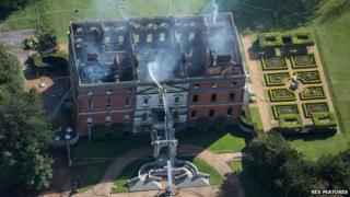 Clandon House damping down