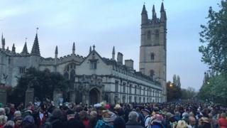 Magdalen Bridge on May Day 2015