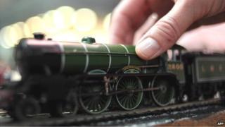A Hornby toy railway engine