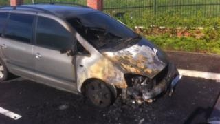 Ballymagowan Park car burnt