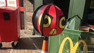 Rhyl Angry Birds seagull deterrent