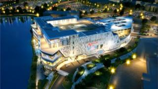 A computer-generated image of Resorts World Birmingham