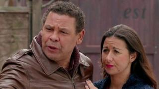 Craig Charles and Hayley Tamaddon