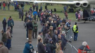 Crowds at air show