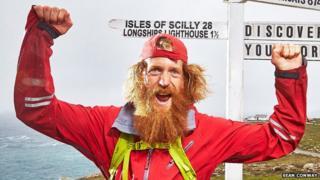 Sean Conway reaches Land's End