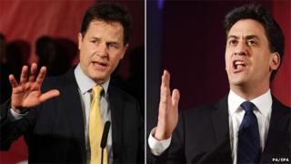 Clegg and Miliband