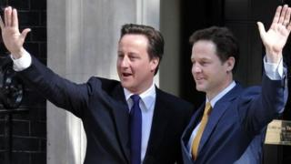 David Cameron and Nick Clegg in May 2010