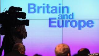 File image from David Cameron's speech on Europe. 23 Jan 2013