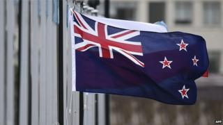The New Zealand flag flutters outside Parliament buildings in Wellington in Wellington on 29 October 2014.
