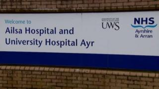 NHS Ayrshire and Arran sign