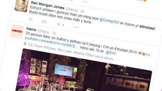 Welsh language Twitter postings