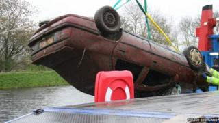 Car found at Muirtown Lock in Inverness