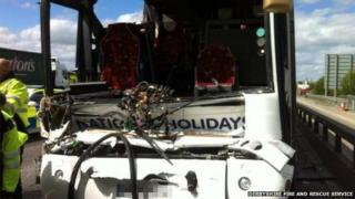 M1 coach crash