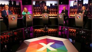 The TV election debate is taking place at the BBC in Belfast