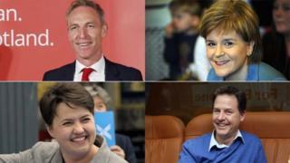 Jim Murphy, Nicola Sturgeon, Ruth Davidson and Nick Clegg