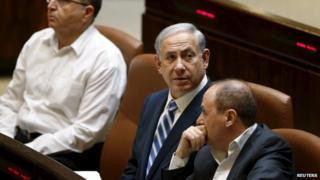 Benjamin Netanyahu in the Knesset. 4 May 2015