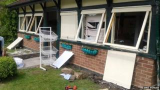 Grove Park cafe after it was vandalised