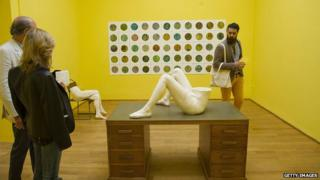 Work of artist Sarah Lucas for the 56 Venice Biennale 2015
