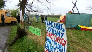 Anti-fracking camp at Upton, near Chester