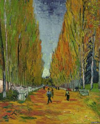 Van Gogh painting L'Allee des Alyscamps