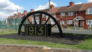 Miners Wheel at Rossington