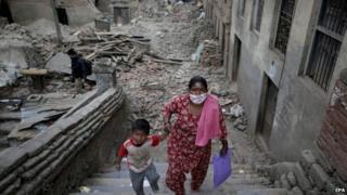 Nepal earthquake aftermath