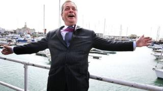 Nigel Farage on walkabout in Ramsgate
