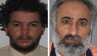Tariq al-Harzi (L) and Abdul Rahman al-Qaduli