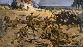 Battle of Ypres painting