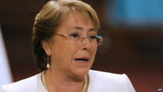 Chilean President Michelle Bachelet. 20 Jan 2015