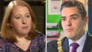 Naomi Long of Alliance and Gavin Robinson, DUP, are fighting for the East Belfast seat