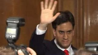 Ed Miliband yn ffarwelio