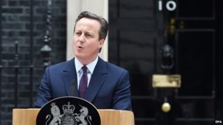 David Cameron at number 10