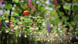 Wind chimes at the festival