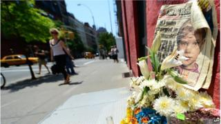 A street shrine to six-year-old Etan Patz