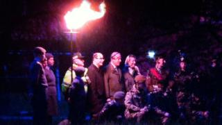 A beacon was lit in Enniskillen, County Fermanagh,