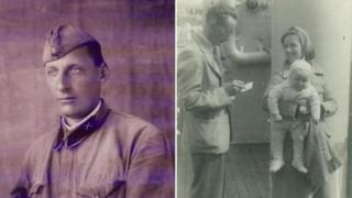 Martin Magnago's grandfather (L) and Jim Duffield as a babe in arms (R)