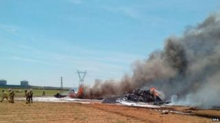 Airbus A400M military transport plane crash outside Seville