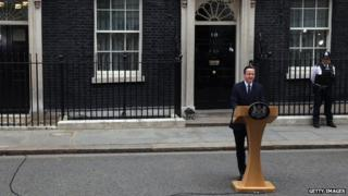 David Cameron outside Downing Street
