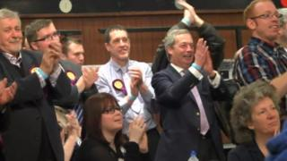 UKIP candidates celebrate the declaration