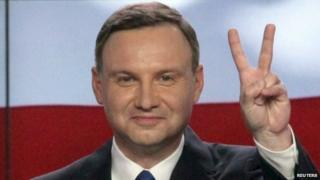Andrzej Duda after first round of Polish presidential elections, 10 May 2015