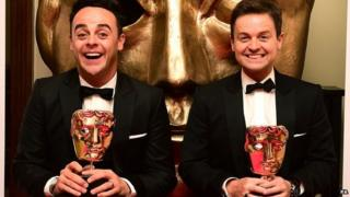 Ant and Dec with their Baftas