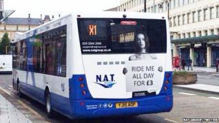 Twitter image of bus campaign