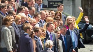 David Cameron with new Conservative MPs, 11 May